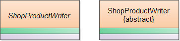 Пример представления абстрактного класса в UML