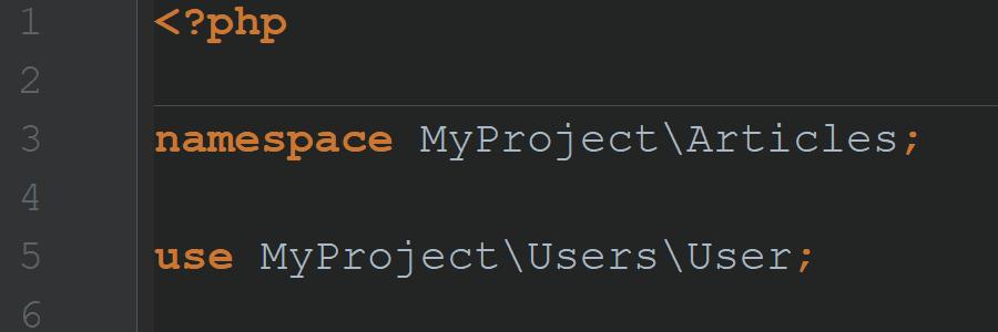 Пространства имён и автозагрузка классов в PHP