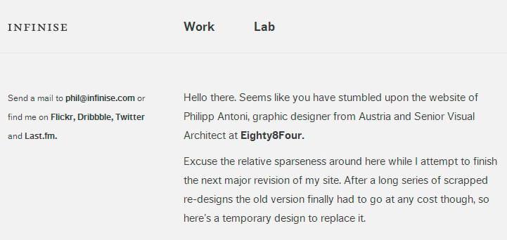 Дизайн сайта text only