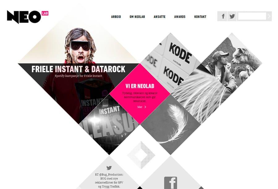 Дизайн сайта из геометрических фигур