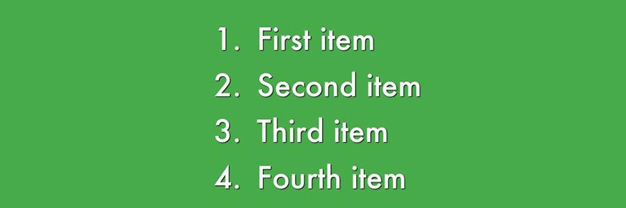 Как сделать нумерованный список в HTML
