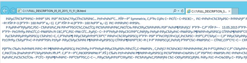 Неправильная кодировка